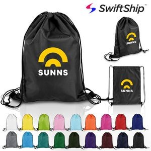 Polyester Drawstring Sports Bag Backpack
